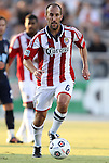 05 June 2012: Chivas USA's Peter Vagenas. The Carolina RailHawks (NASL) lost 1-2 to Club Deportivo Chivas USA (MLS) at WakeMed Soccer Stadium in Cary, NC in a 2012 Lamar Hunt U.S. Open Cup fourth round game.