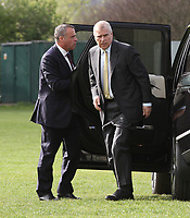 Prince Andrew Departs In Helicopter From Rotherham