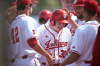Indiana Hoosiers pinch hitter Scotty Bradley (30) during a game against the Seton Hall Pirates on March 5, 2016 at North Charlotte Regional Park in Port Charlotte, Florida.  Seton Hall defeated Indiana 6-4.  (Mike Janes/Four Seam Images)
