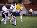 11/03/2008    Copyright Pic: James Stewart.File Name : sct_jspa13_dunfermline_v_hamilton.NICKY PHINN AND ALEXANDER NEIL CHALLENGE .James Stewart Photo Agency 19 Carronlea Drive, Falkirk. FK2 8DN      Vat Reg No. 607 6932 25.Studio      : +44 (0)1324 611191 .Mobile      : +44 (0)7721 416997.E-mail  :  jim@jspa.co.uk.If you require further information then contact Jim Stewart on any of the numbers above........