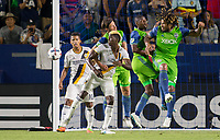 Carson, CA - Saturday July 29, 2017: Roman Torres during a Major League Soccer (MLS) game between the Los Angeles Galaxy and the Seattle Sounders FC at StubHub Center.