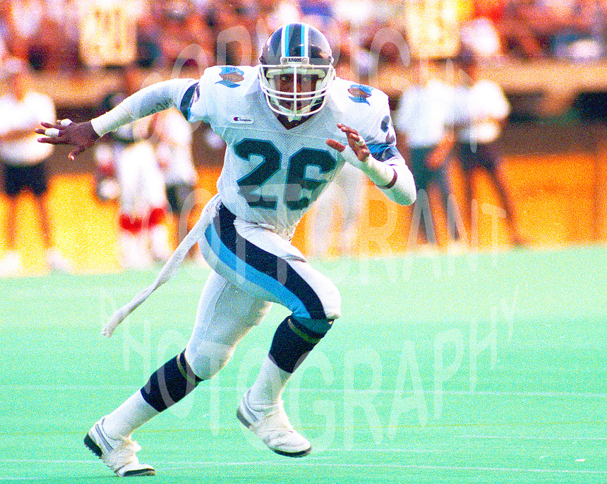 Selwyn Drain Toronto Argonauts 1988. Photo John Bradley