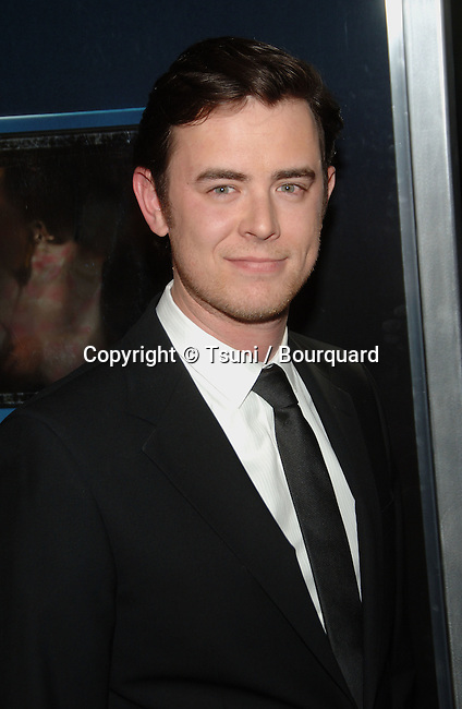 Colin Hanks  arriving at the UNTRACEABLE Premiere at the Silver Screen Theatre In Los Angeles.<br /> <br /> Headshot<br /> eye contact
