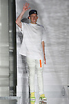 Fashion designer John Elliott thanks audience for attending his John Elliott Spring Summer 2017 menswear collection runway show at Skylight Clarkson Square on July 13 2016, during New York Men's Fashion Week Spring Summer 2017.