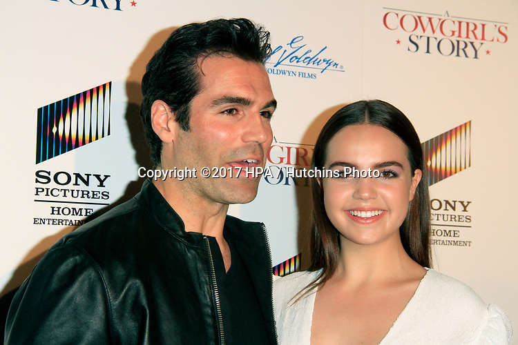 """LOS ANGELES - APR 13:  Jordi Vilasuso, Bailee Madison at the """"A Cowgirl's Story"""" Premiere at the Pacific Theatres at The Grove on April 13, 2017 in Los Angeles, CA"""