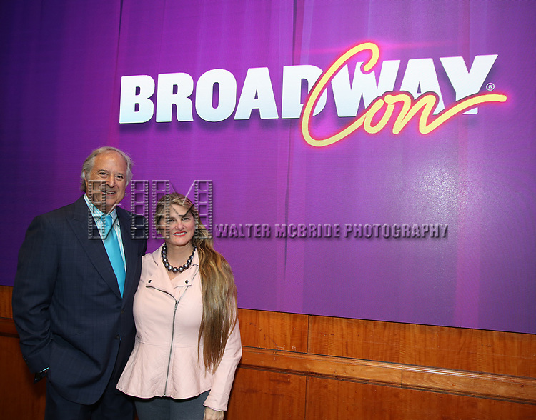 Stewart F. Lane and Bonnie Comley, BroadwayHD, During the BroadwayCON 2020 First Look at the New York Hilton Midtown Hotel on January 24, 2020 in New York City.