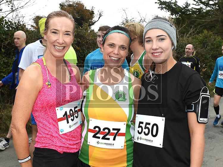 Georgina Glackin, Karen Hennessy and Shauna Murray who took part in the Noel Carroll 10k race at Annagassan. Photo:Colin Bell/pressphotos.ie