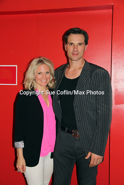 "As The World Turns' Terri Conn and Austin Peck at ""The F"" held a Benefit for the film on June 22, 2018 at the Freeman Studio, New York City, New York. (Photo by Sue Coflin/Max Photo)"