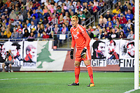 September 9, 2017 - Foxborough, Mass: New England Revolution goalkeeper Cody Cropper (1) works the net during the MLS game between the Montreal Impact and the New England Revolution held at Gillette Stadium in Foxborough Massachusetts. Revolution defeat Impact 1-0. Eric Canha/CSM