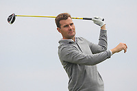 James Fox (Portmarnock) on the 9th tee during Round 1 of The East of Ireland Amateur Open Championship in Co. Louth Golf Club, Baltray on Saturday 1st June 2019.<br /> <br /> Picture:  Thos Caffrey / www.golffile.ie<br /> <br /> All photos usage must carry mandatory copyright credit (© Golffile | Thos Caffrey)