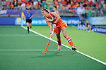 The Hague, Netherlands, June 12: Maartje Paumen #17 of The Netherlands in action during the field hockey semi-final match (Women) between The Netherlands and Argentina on June 12, 2014 during the World Cup 2014 at Kyocera Stadium in The Hague, Netherlands. Final score 4-0 (3-0)  (Photo by Dirk Markgraf / www.265-images.com) *** Local caption ***