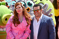"""CANNES, FRANCE. May 13, 2019: Sonia Plakidyuk & Josh Gad at the photocall for """"The Angry Birds Movie 2"""" at the Festival de Cannes.<br /> Picture: Paul Smith / Featureflash"""