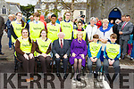 President Higgins and his wife Sabina sit the members of the Listowel Tidy Towns Junior Committee on Saturday morning