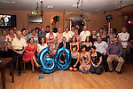 Jim Cawley with friends and family at his birthday in The Thatch...Picture Jenny Matthews/Newsfile.ie