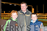 BOYS NIGHT: Enjoying a boy's night out at the Kingdom Greyhound Stadium Night at the Dogs on Friday l-r: Justin, Mick and Cathal Hanafin, The Spa.