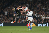 Dusan Tadic of Ajax is challenged by Tottenham Hotspur's Toby Alderweireld and Danny Rose<br /> <br /> Photographer Rob Newell/CameraSport<br /> <br /> UEFA Champions League - Tottenham Hotspur v Ajax - Tuesday 30th April 2019 - White Hart Lane - London<br />  <br /> World Copyright © 2018 CameraSport. All rights reserved. 43 Linden Ave. Countesthorpe. Leicester. England. LE8 5PG - Tel: +44 (0) 116 277 4147 - admin@camerasport.com - www.camerasport.com