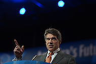 March 14, 2013  (National Harbor, MD)  Texas Governor Rick Perry speaks to attendees of the 2013 Conservative Political Action Conference (CPAC).  (Photo by Don Baxter/Media Images International)
