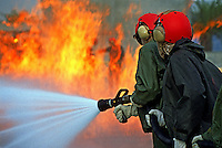 Navy firemen training