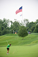Gerina Piller (USA) hits her approach shot on 9 during Thursday's first round of the 72nd U.S. Women's Open Championship, at Trump National Golf Club, Bedminster, New Jersey. 7/13/2017.<br /> Picture: Golffile | Ken Murray<br /> <br /> <br /> All photo usage must carry mandatory copyright credit (&copy; Golffile | Ken Murray)