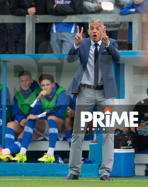 Carlisle United Manager Keith Curle during the Sky Bet League 2 match between Carlisle United and Wycombe Wanderers at Brunton Park, Carlisle, England on 24 September 2016. Photo by Andy Rowland.