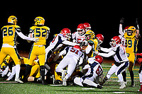 November 10, 2017:  Game action from the Bridgewater-Raynham vs King Phillip varsity football game played at King Phillip High School, in Wentham, Mass. King Phillip defeats Bridgewater-Raynham 29-19. Eric Canha/BridgewaterSports.com