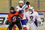 03.01.2020, BLZ Arena, Füssen / Fuessen, GER, IIHF Ice Hockey U18 Women's World Championship DIV I Group A, <br /> Frankreich (FRA) vs Japan (JPN), <br /> im Bild Hina Shimomukai (JPN, 17), Lea Berger (FRA, #10), Sabrina Roger (FRA, #20)<br /> <br /> Foto © nordphoto / Hafner