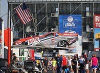 Sep 25, 2016; Madison, IL, USA; NHRA funny car driver Brandon Welch during the Midwest Nationals at Gateway Motorsports Park. Mandatory Credit: Mark J. Rebilas-USA TODAY Sports