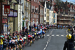 The peloton arrive into Scarborough during Stage 1 of the Tour de Yorkshire 2017 running 174km from Bridlington to Scarborough, England. 28th April 2017. <br /> Picture: ASO/P.Ballet | Cyclefile<br /> <br /> <br /> All photos usage must carry mandatory copyright credit (&copy; Cyclefile | ASO/P.Ballet)