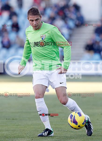 Malaga's Joaquin Sanchez during La Liga match.December 01,2012. (ALTERPHOTOS/Acero) ©/NortePhoto