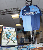 Ex Wycombe Player Paul McCarthy shirt and Photo in the reception area in tribute to the man who recently passed away during the Sky Bet League 2 match between Wycombe Wanderers and Crawley Town at Adams Park, High Wycombe, England on 25 February 2017. Photo by Andy Rowland / PRiME Media Images.