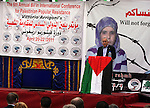 Palestinian prime minister Salam Fayyad participates the opening ceremony of the 6th Bilin international conference for Palestinian Popular Resistance on April 20, 2011 in West Bank village of Bilin, near Ramallah. Fayyad called on the international community to promote Palestinian self determination, saying that The international community must be committed to promoting a Palestinian state withing the 1967 borders and supporting the planned deceleration of independence coming September. Photo by Issam Rimawi