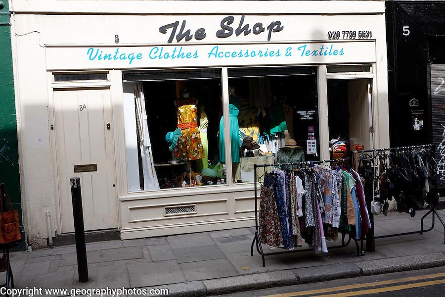 Vintage clothes shop Brick Lane