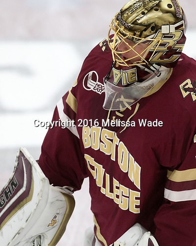 Ryan Edquist (BC - 35) - The Harvard University Crimson defeated the visiting Boston College Eagles 5-2 on Friday, November 18, 2016, at the Bright-Landry Hockey Center in Boston, Massachusetts.