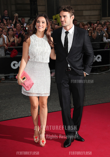 Kelly Brook and Thom Evans arriving for the 2012 GQ Men Of The Year Awards, Royal Opera House, London. 05/09/2012 Picture by: Alexandra Glen / Featureflash