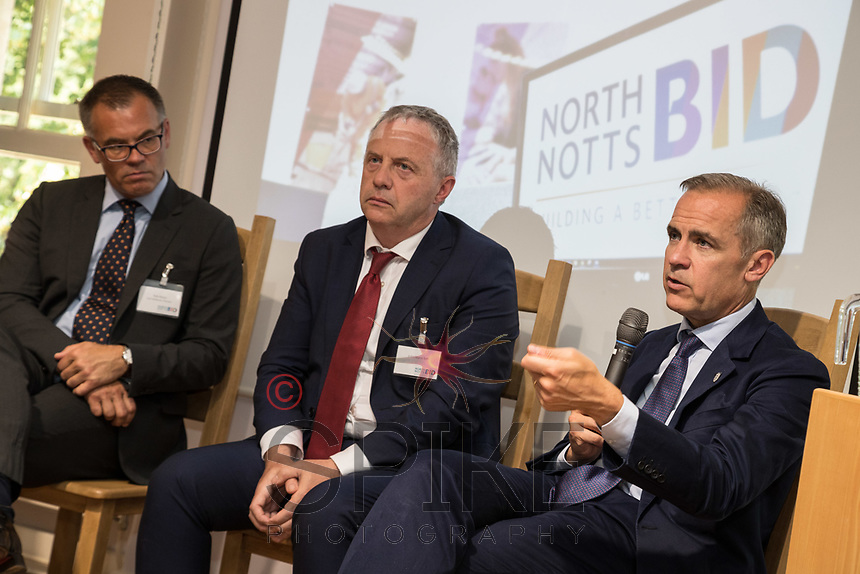Pictured from left are Rob Mayo of East Midlands Chamber, John Mann MP and Mark Carney, Governor of the Bank of England