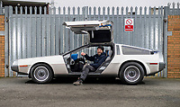 BNPS.co.uk (01202 558833)<br /> Pic: PhilYeomans/BNPS<br /> <br /> Engineer Clint Townsend has spent 2 years converting the iconic car.<br /> <br /> Back to the Future...finally!<br /> <br /> A British car nut has spent over £200,000 converting his DeLorean into a stunning electric eco supercar for the 21st century.<br /> <br /> The transformation of the lame duck motor from the 1980's using Tesla battery technology brings the ill fated model right back to the future.<br /> <br /> Former music producer Phil Wainman commissioned engineer Clint Townsend to attempt to convert the Delorean using Tesla batteries as an eco experiment.<br /> <br /> And the spectacular stainless steel supercar even boasts a Flux Capacitor style gear selector and a sampled annoucement of  'Great Scot' as the powerful motor goes past 88mph.