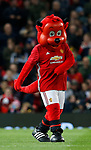 Fred the Red the Manchester Utd mascot during the English Premier League match at Old Trafford Stadium, Manchester. Picture date: April 4th 2017. Pic credit should read: Simon Bellis/Sportimage