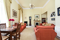 BNPS.co.uk (01202 558833)<br /> Pic: Symonds&Sampson/BNPS<br /> <br /> Reception room. <br /> <br /> A charming home which features in a Thomas Hardy novel has emerged on the market for £500,000.<br /> <br /> Grade II listed Stinsford House, in the idyllic village of Stinsford, Dorset, is referenced in the writer's 1872 novel 'Under The Greenwood Tree'.<br /> <br /> It is believed that the tree in the courtyard is the one Hardy wrote about in the romantic tale.<br /> <br /> Hardy was very attached to the village which is on the outskirts of the market town of Dorchester. He was baptised at St Michael's Church in the village and his church group is thought to have performed at the 17th century property every Christmas Eve. Following his death in 1928, his second wife fulfilled Hardy's request for his heart to be buried at St Michael's Church, while his ashes were interred at 'Poets Corner' in Westminster Abbey.<br /> <br /> The property is being sold with estate agent Symonds & Sampson.