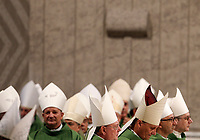 Bishops attend the Mass for the opening of the Synod for the Amazon region, celebrated by the Pope in St. Peter's Basilica at the Vatican, October 6, 2019.<br /> UPDATE IMAGES PRESS/Riccardo De Luca<br /> <br /> STRICTLY ONLY FOR EDITORIAL USE