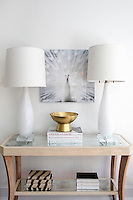 modern white lampshades Get A Room is a boutique in Scarsdale New York for interior design.
