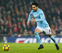 Manchester City's Ilkay Gundogan<br /> <br /> Photographer Alex Dodd/CameraSport<br /> <br /> The Premier League - Liverpool v Manchester City - Sunday 14th January 2018 - Anfield - Liverpool<br /> <br /> World Copyright &copy; 2018 CameraSport. All rights reserved. 43 Linden Ave. Countesthorpe. Leicester. England. LE8 5PG - Tel: +44 (0) 116 277 4147 - admin@camerasport.com - www.camerasport.com