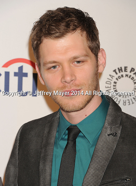 HOLLYWOOD, CA- MARCH 22: Actor Joseph Morgan attends the 2014 PaleyFest - 'The Vampire Diaries' & 'The Originals' held at Dolby Theatre on March 21, 2014 in Hollywood, California.