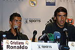 08 August 2009: Real Madrid captain Raul Gonzalez (ESP) (right) with Cristiano Ronaldo (POR) (left). Real Madrid of Spain's La Liga and DC United of Major League Soccer held a press conference at the Sofitel Hotel in Washington, DC a day before playing an international club friendly soccer match.
