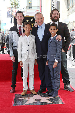 HOLLYWOOD, CA - APRIL 26: Chef Wolfgang Puck and Sons pictured as Chef Wolfgang Puck is honored with a Star on the Hollywood Walk of Fame on April 26, 2017 in Hollywood, California. Credit: FS/MediaPunch