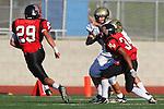 Palos Verdes, CA 11/10/10 - Evan Pantucci (Peninsula #16) in action during the junior varsity football game between Peninsula and Palos Verdes at Palos Verdes High School.