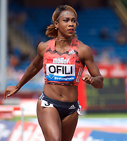 Cindy Ofili of Great Britain competing in the Women's 100m Hurdles during the Muller Grand Prix  IAAF Diamond League meeting at Alexander Stadium, Perry Barr, Birmingham.<br /> Picture by Alan Stanford +44 7915 056117<br /> 18/08/2018