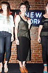 Models pose in Kordal knitwear by Mandy Kordal during the inaugural Wear New York Fashion Week presentation at 393 Broadway on June 27, 2013.