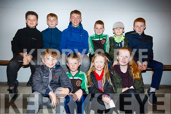 Enjoying a nit at the Dogs at the Kingdom Greyhound Stadium on Friday were cousins  front l-r Colm Curtin, Dara Harty, Nancy Harty, April Harty, Cian Byrne, Eoin Curtin, Muiris Curtin, Aaron Harty, Austin Harty, Oscar Harty