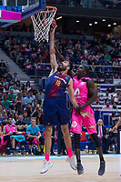 Estudiantes Sitapha Savane and FC Barcelona Lassa Pierre Oriole during Liga Endesa match between Estudiantes and FC Barcelona Lassa at Wizink Center in Madrid, Spain. October 22, 2017. (ALTERPHOTOS/Borja B.Hojas) /NortePhoto.com