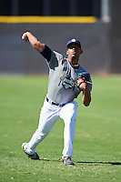 San Diego Padres pitcher Ronald Bolanos (77) during an Instructional League camp day on October 4, 2016 at the Peoria Sports Complex in Peoria, Arizona.  (Mike Janes/Four Seam Images)